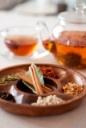 生薬とガラス茶器